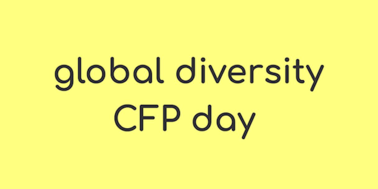 Global Diversity CFP Day banner